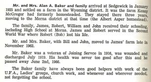 Baker Family History