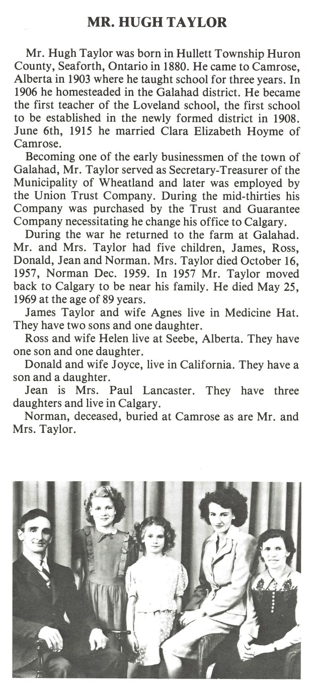 Hugh Taylor History