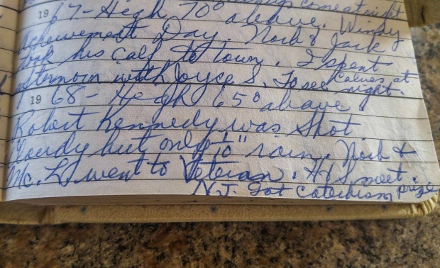 Esther Moser Diary June 5, 1968