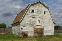 This frame shows the southern half of the barn and the eastern face of the barn.