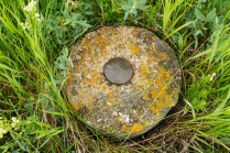 This frame is a close-up of another concrete marker on the hill. This marker lies to the north-west of the first marker shown.