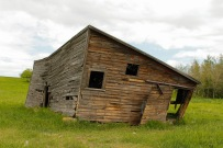 This frame shows the western side and southern side of the barn.