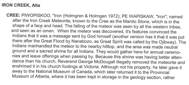 2001 Indian Place Names of the West - Iron Creek